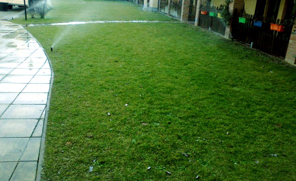 Area Verde irigazione prato